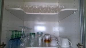 Decluttering the glass shelf