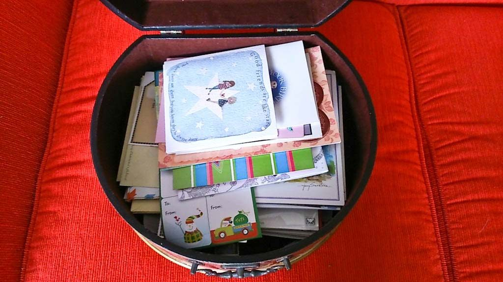 Decluttering cards and envelopes