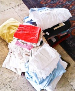 Donate and recycle piles after decluttering