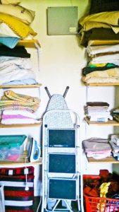 linen-press pre-decluttering