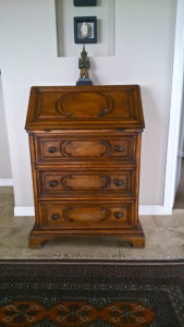 Secretaire containing our photos